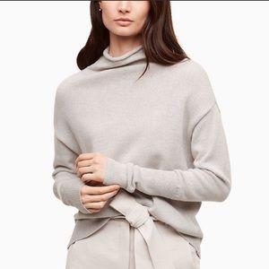 Wilfred Cyprie Wool Grey Turtleneck Sweater